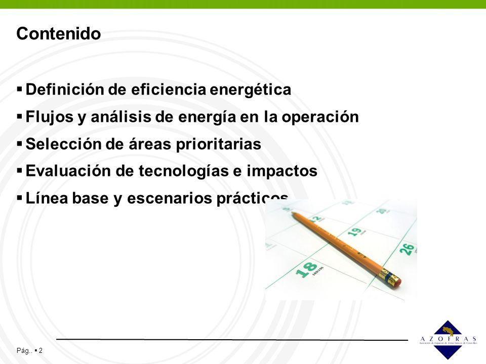 Contenido Definición de eficiencia energética