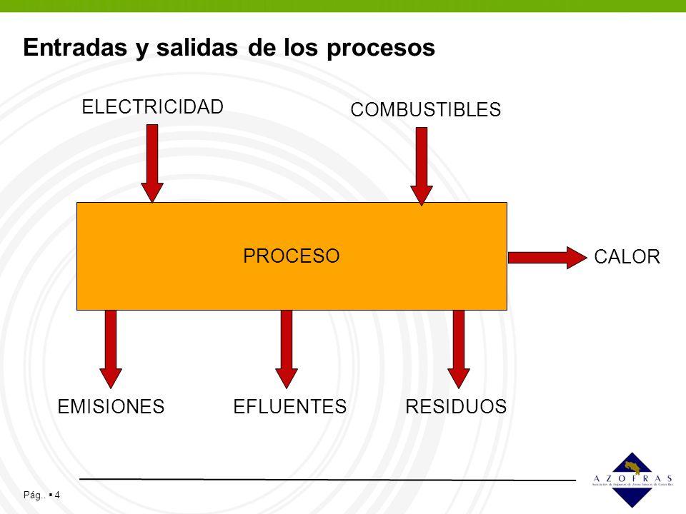 Entradas y salidas de los procesos