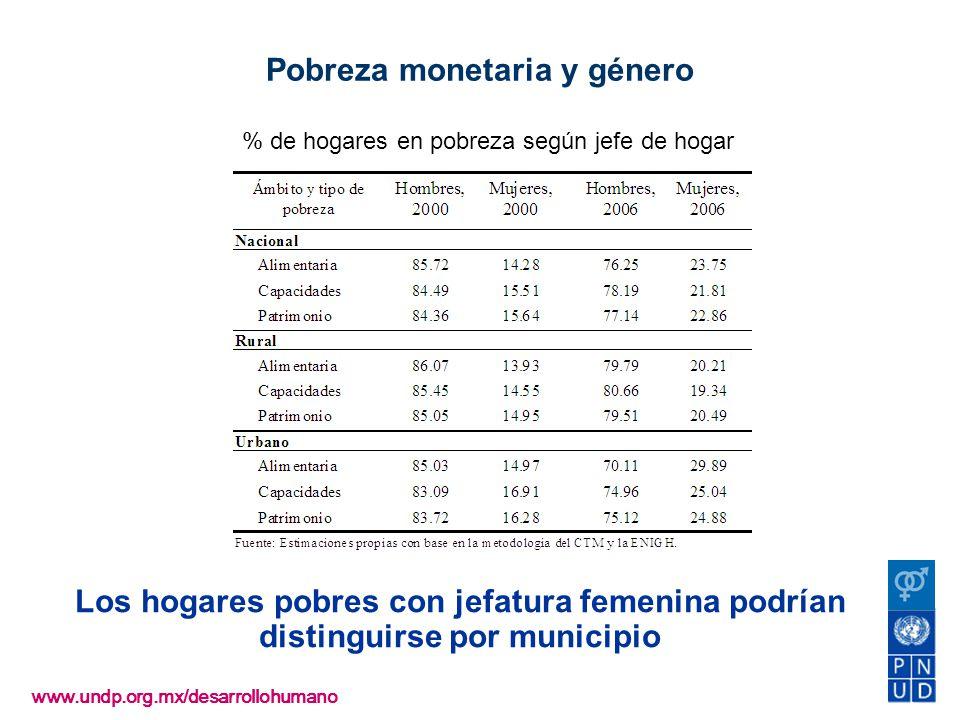 Pobreza monetaria y género