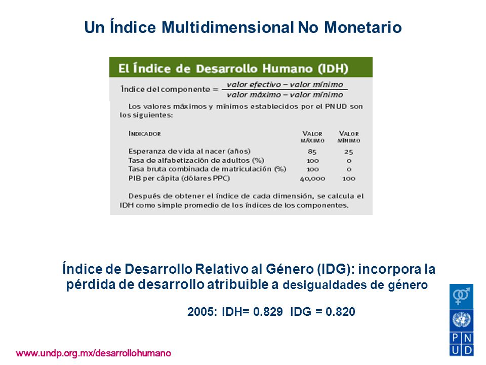 Un Índice Multidimensional No Monetario