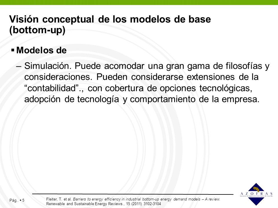 Visión conceptual de los modelos de base (bottom-up)