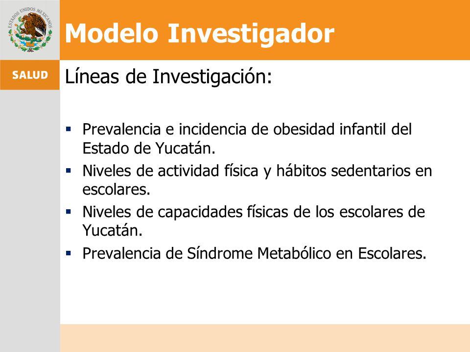 Modelo Investigador Líneas de Investigación: