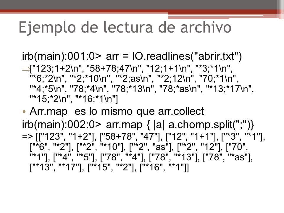 Ejemplo de lectura de archivo