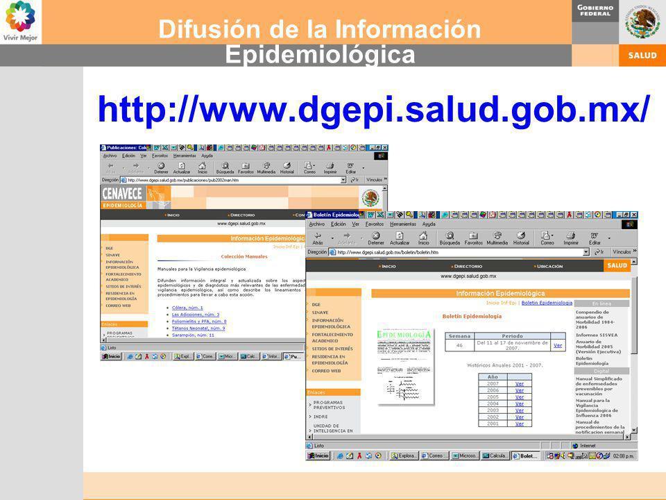 Difusión de la Información Epidemiológica