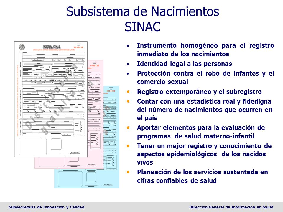Subsistema de Nacimientos SINAC