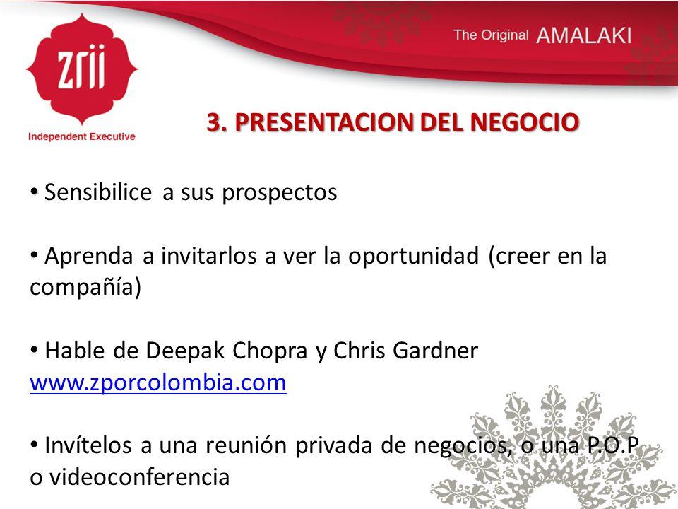 3. PRESENTACION DEL NEGOCIO