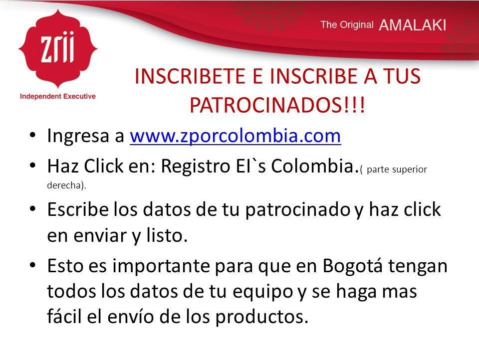 INSCRIBETE E INSCRIBE A TUS PATROCINADOS!!!
