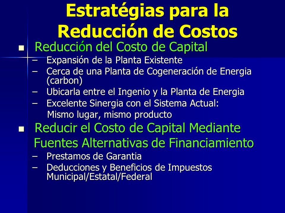 Estratégias para la Reducción de Costos