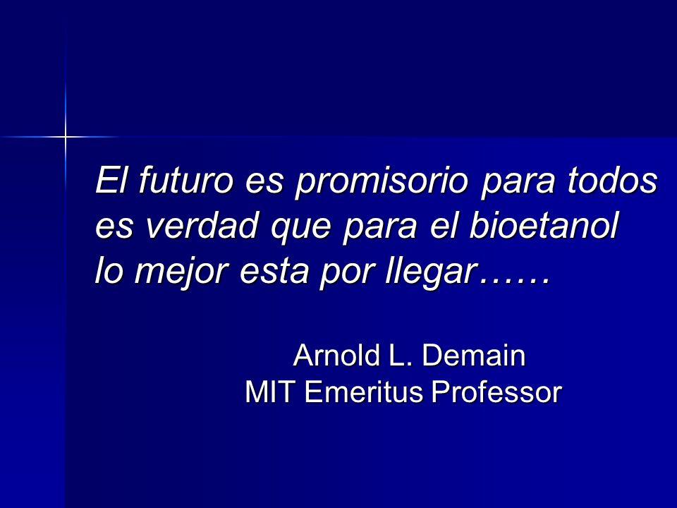 El futuro es promisorio para todos es verdad que para el bioetanol