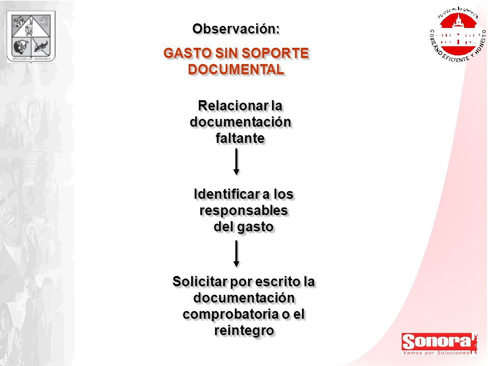 GASTO SIN SOPORTE DOCUMENTAL