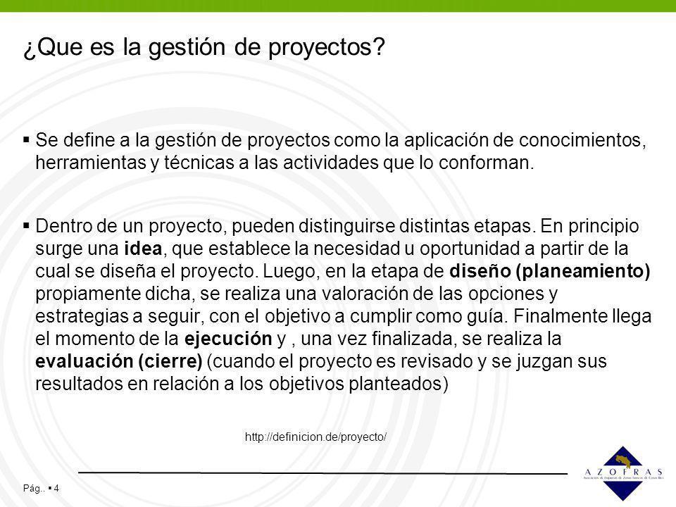 ¿Que es la gestión de proyectos