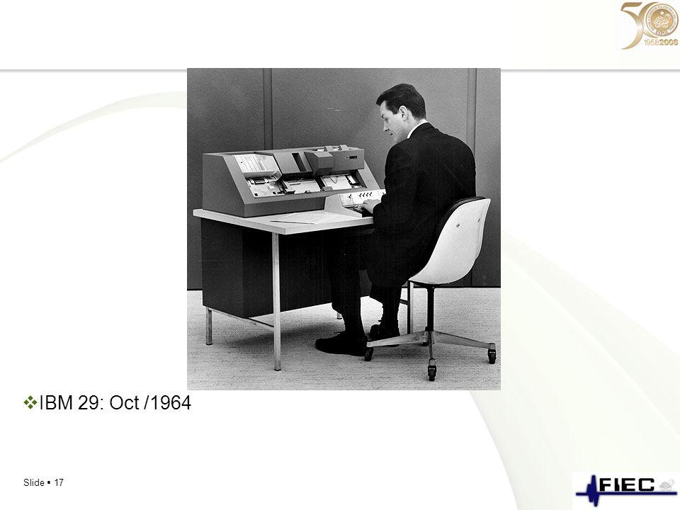 IBM 29: Oct /1964