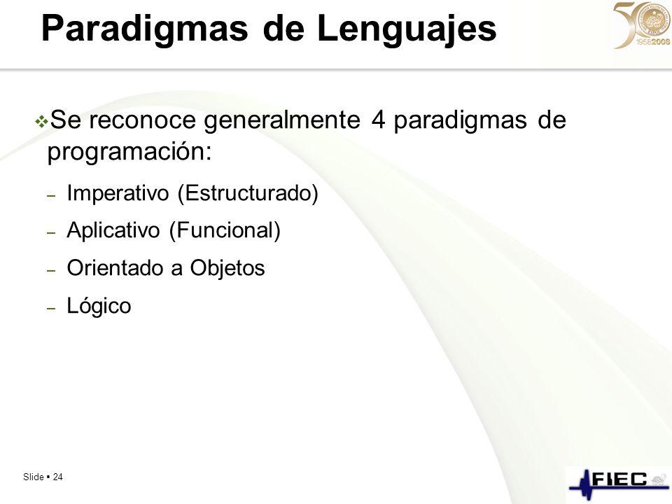 Paradigmas de Lenguajes