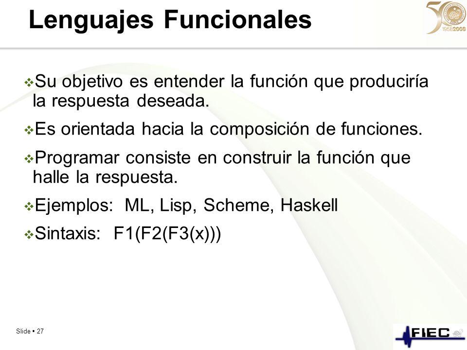 Lenguajes Funcionales
