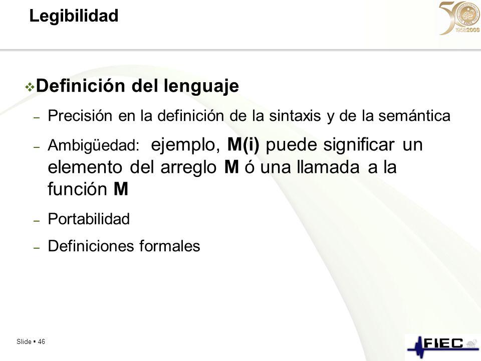 Definición del lenguaje