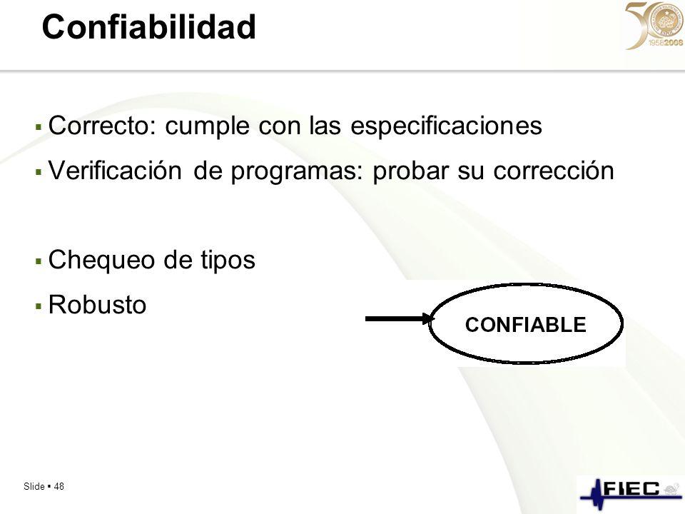 Confiabilidad Correcto: cumple con las especificaciones