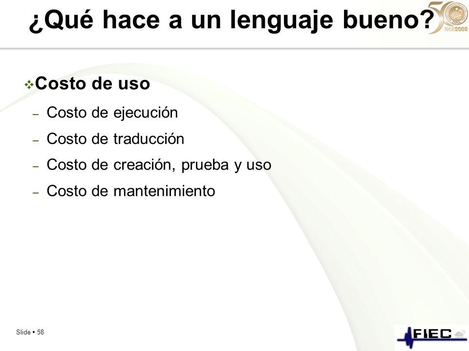 ¿Qué hace a un lenguaje bueno