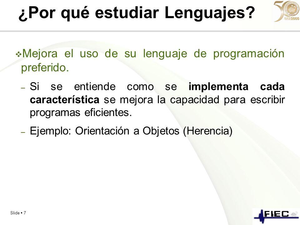 ¿Por qué estudiar Lenguajes