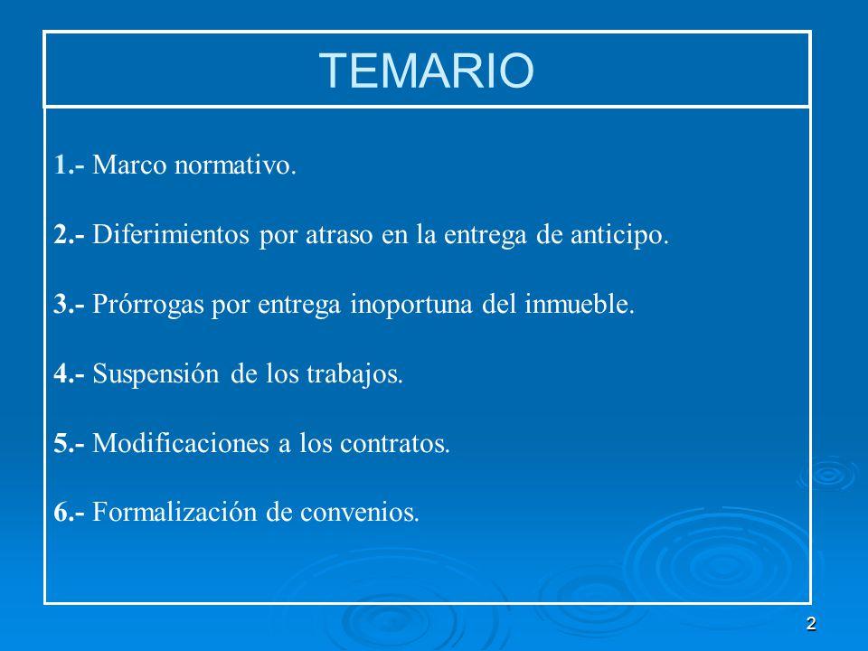 TEMARIO 1.- Marco normativo.