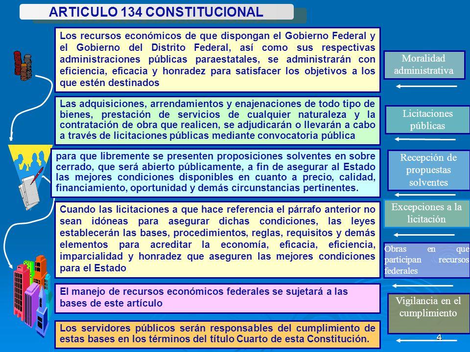 ARTICULO 134 CONSTITUCIONAL