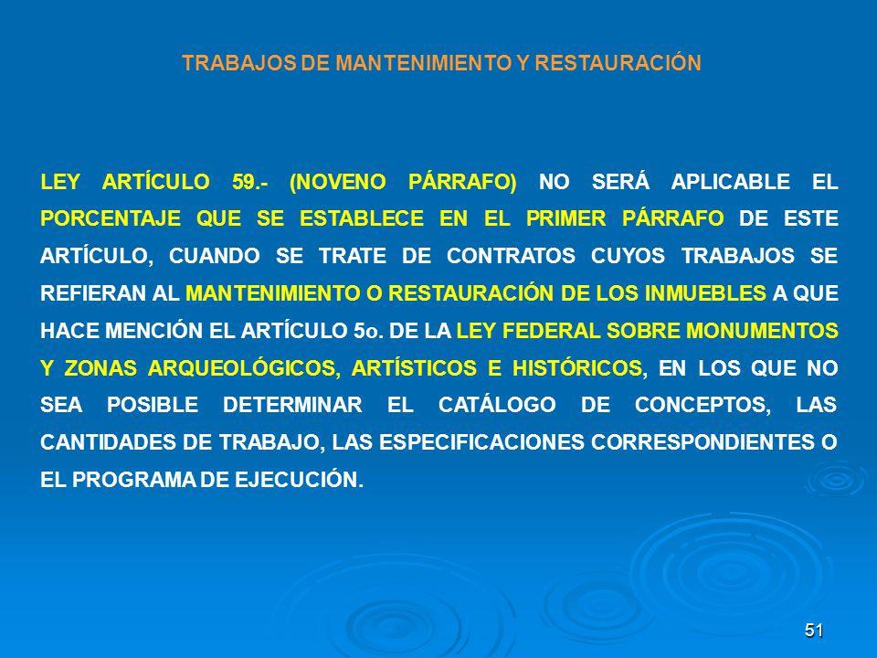 TRABAJOS DE MANTENIMIENTO Y RESTAURACIÓN