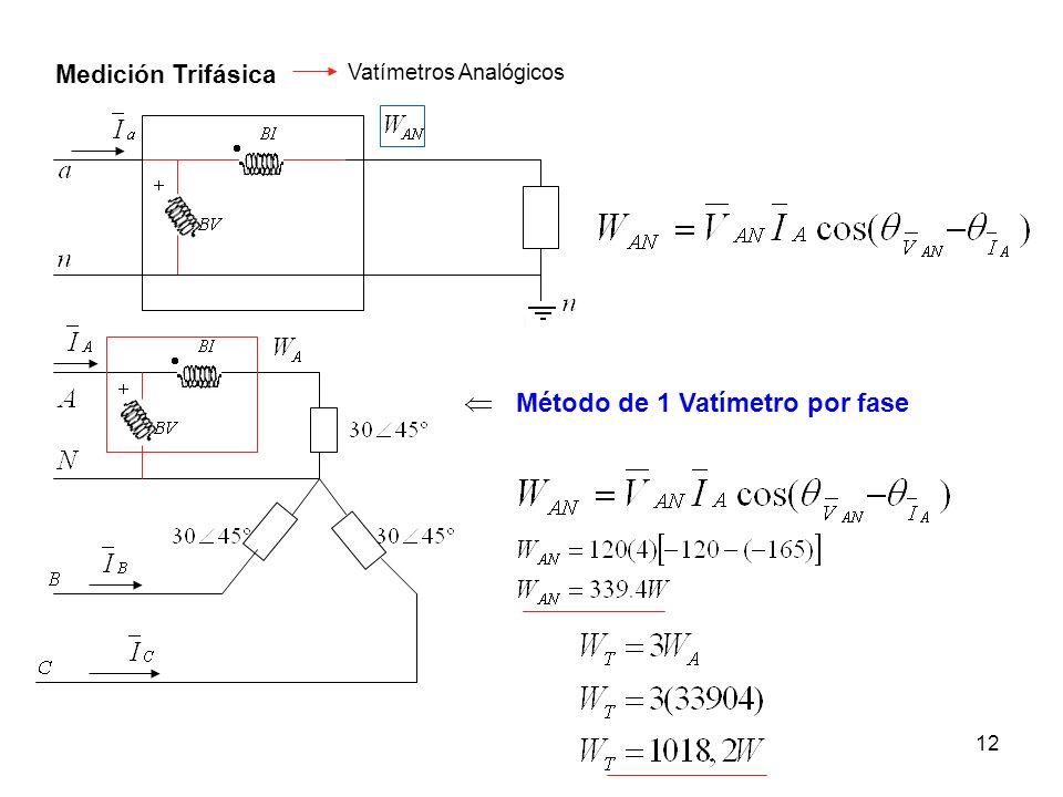 Método de 1 Vatímetro por fase