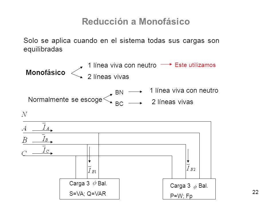 Reducción a Monofásico