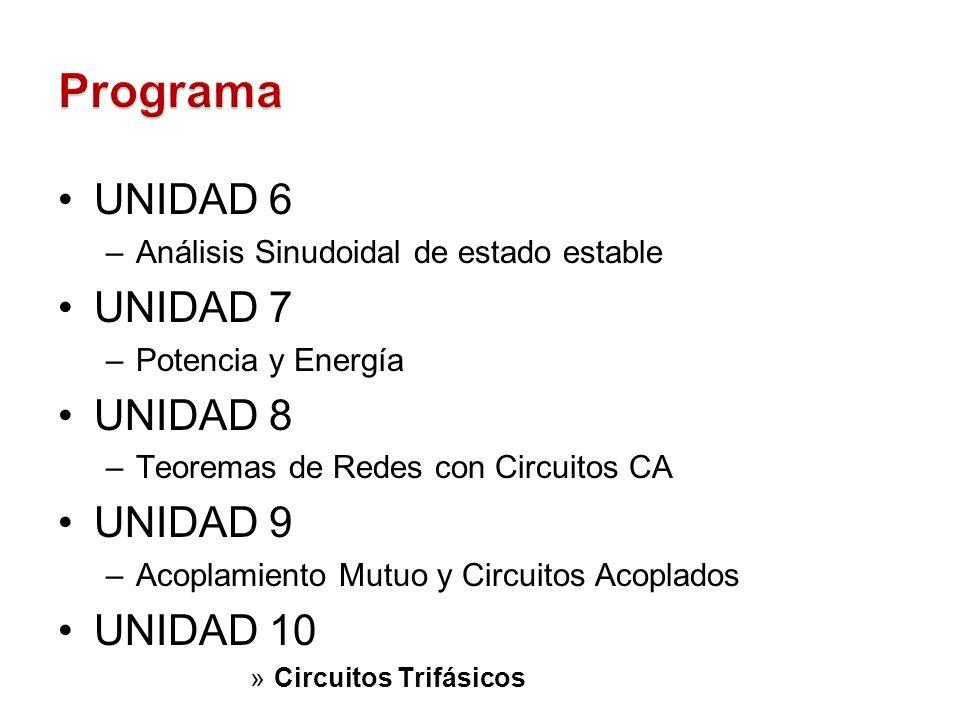 Programa UNIDAD 6 UNIDAD 7 UNIDAD 8 UNIDAD 9 UNIDAD 10