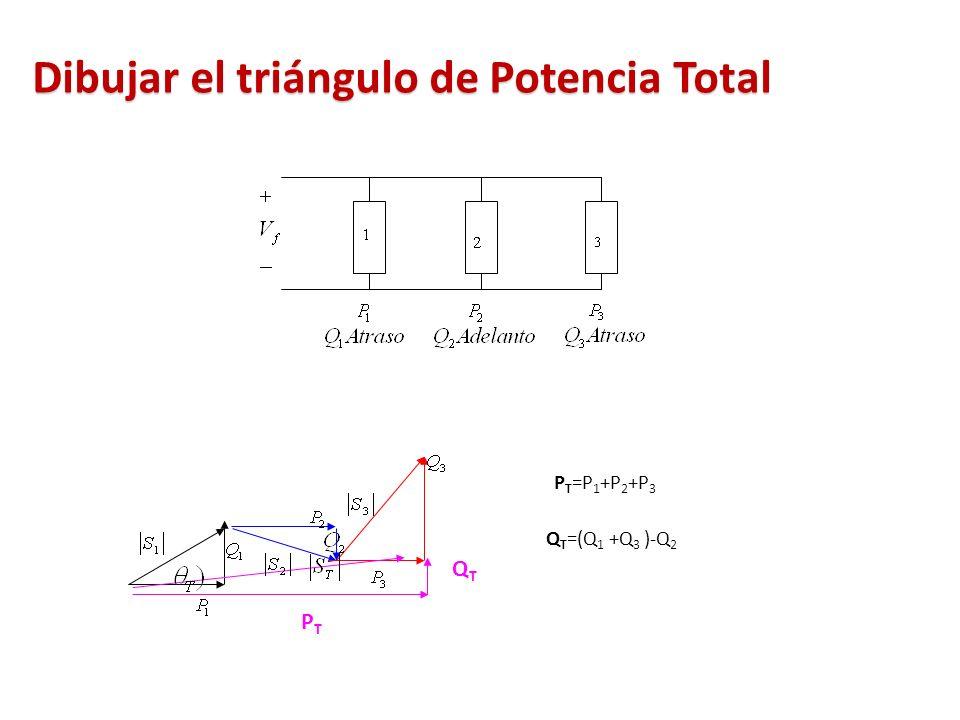 Dibujar el triángulo de Potencia Total