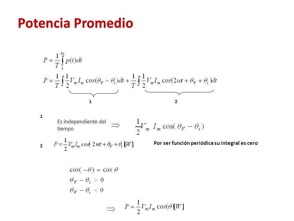 Por ser función periódica su integral es cero