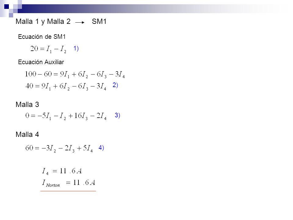 Malla 1 y Malla 2 SM1 Malla 3 Malla 4 Ecuación de SM1 1)
