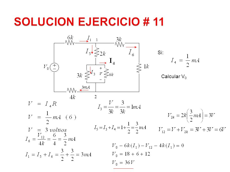 SOLUCION EJERCICIO # 11 Si: Calcular V0