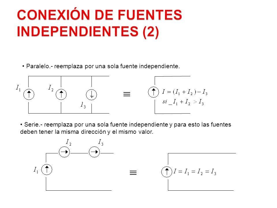 Conexión de Fuentes Independientes (2)