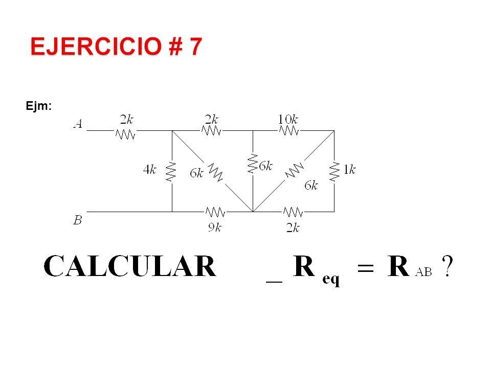 EJERCICIO # 7 Ejm:
