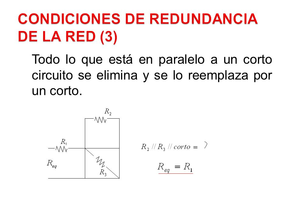 Condiciones de Redundancia de la Red (3)