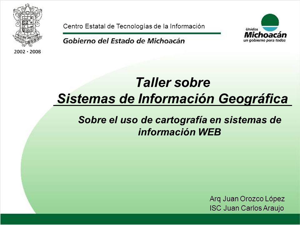 Taller sobre Sistemas de Información Geográfica