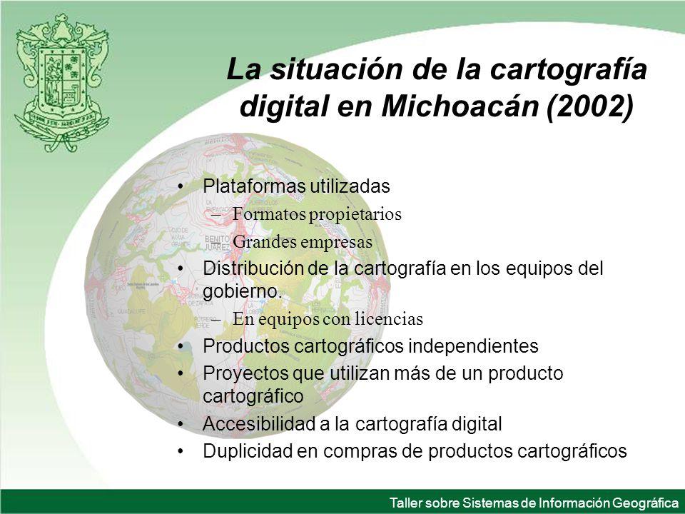 La situación de la cartografía digital en Michoacán (2002)