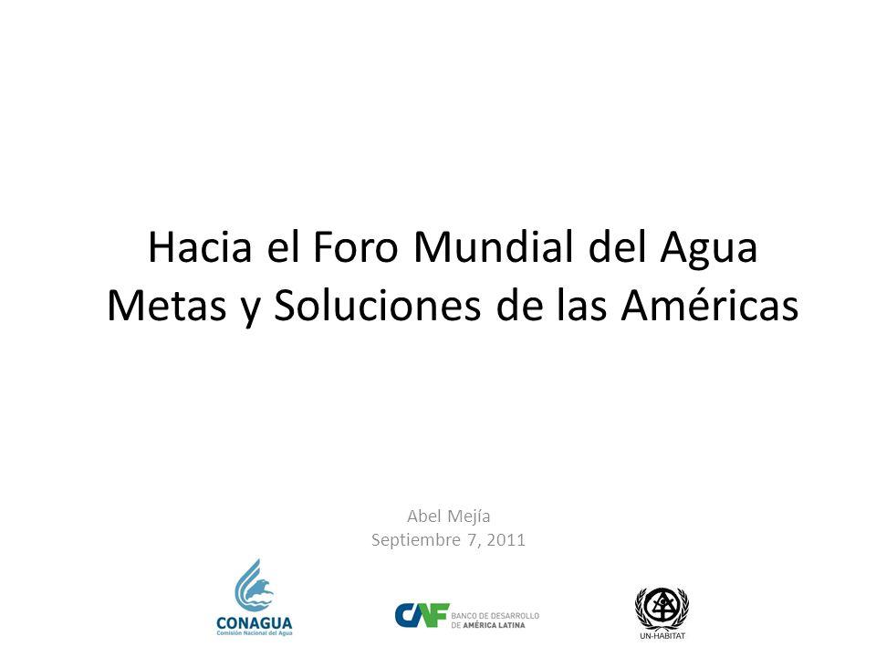 Hacia el Foro Mundial del Agua Metas y Soluciones de las Américas