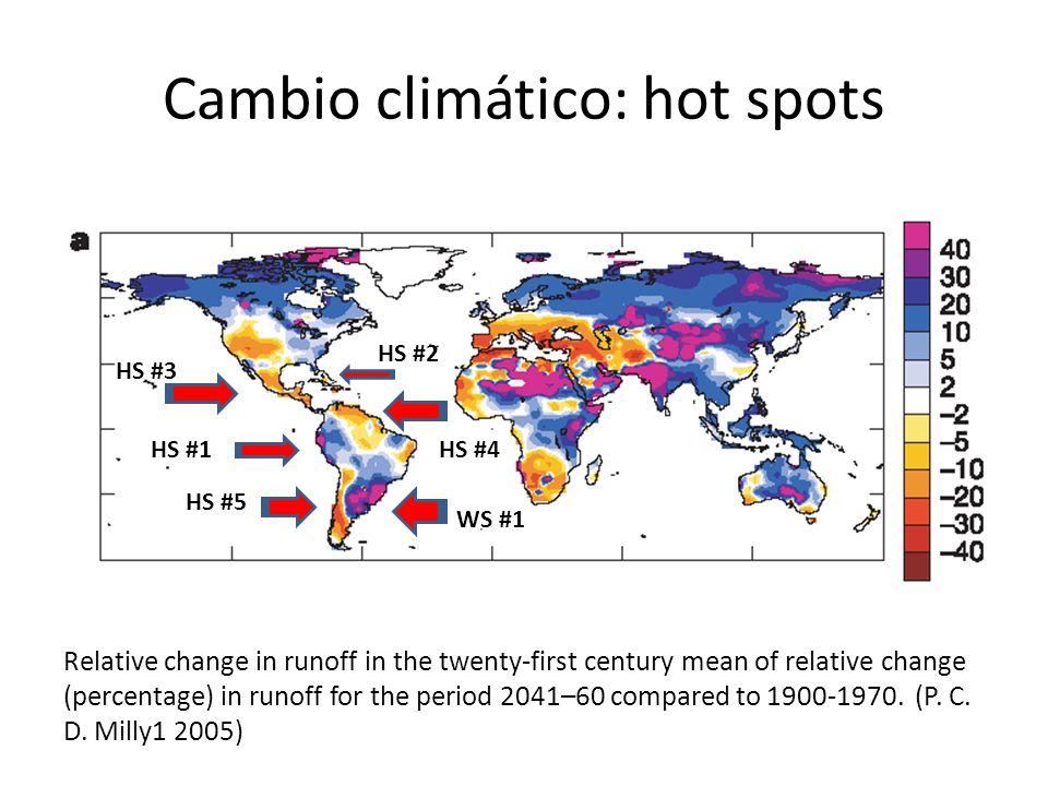Cambio climático: hot spots