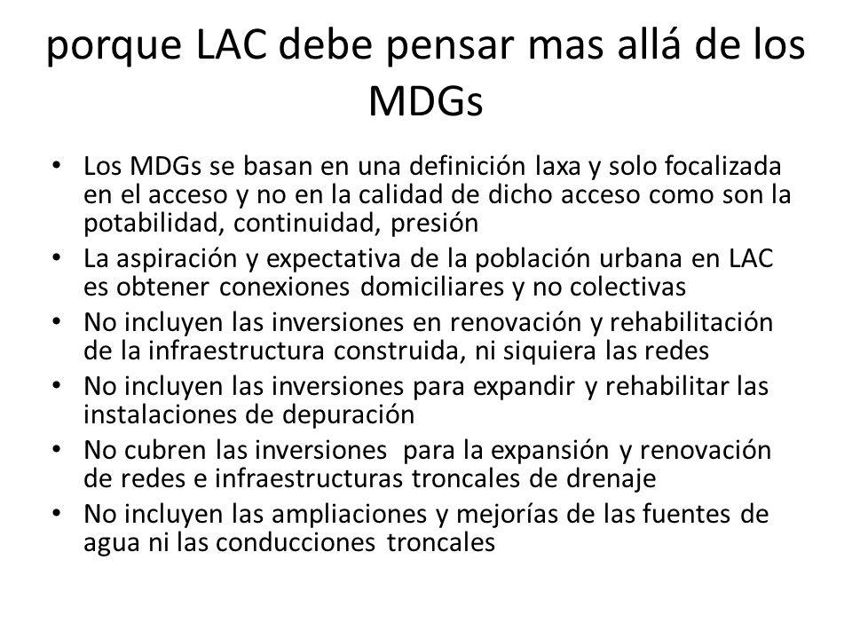 porque LAC debe pensar mas allá de los MDGs