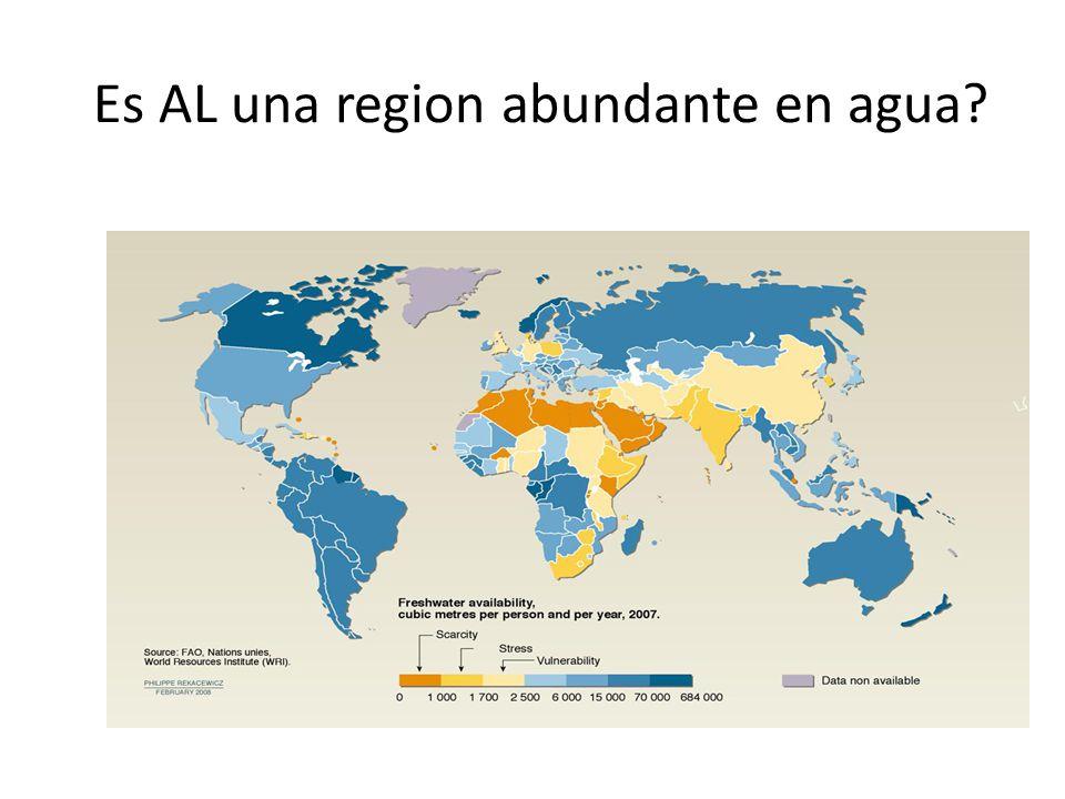 Es AL una region abundante en agua