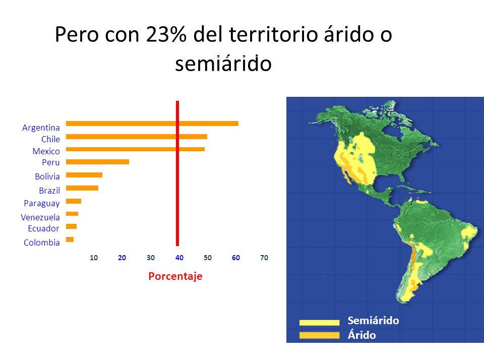 Pero con 23% del territorio árido o semiárido