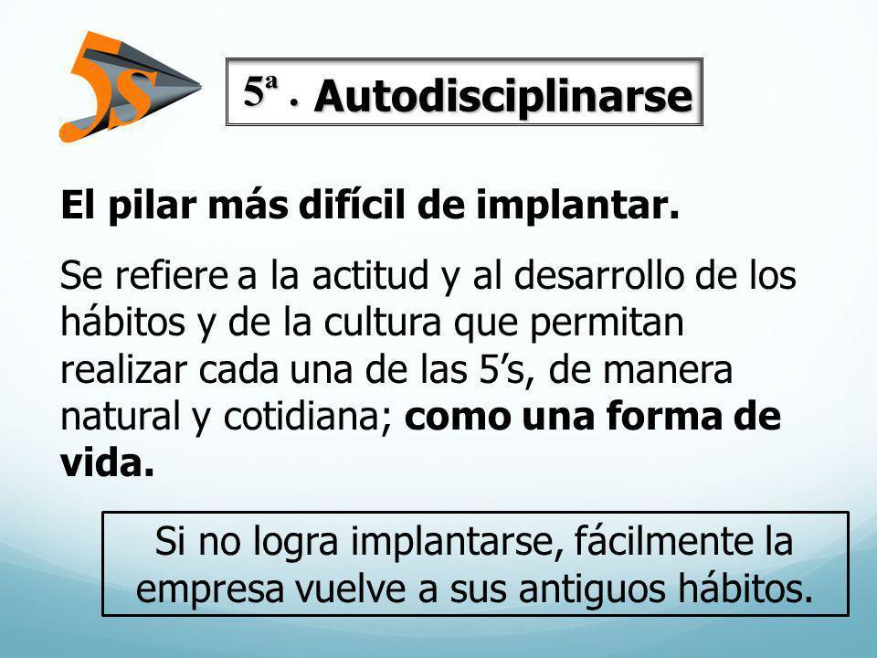 5ª . Autodisciplinarse El pilar más difícil de implantar.