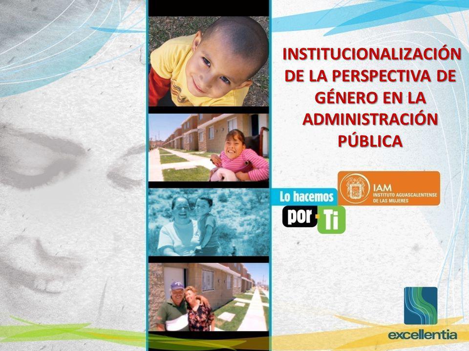 INSTITUCIONALIZACIÓN DE LA PERSPECTIVA DE