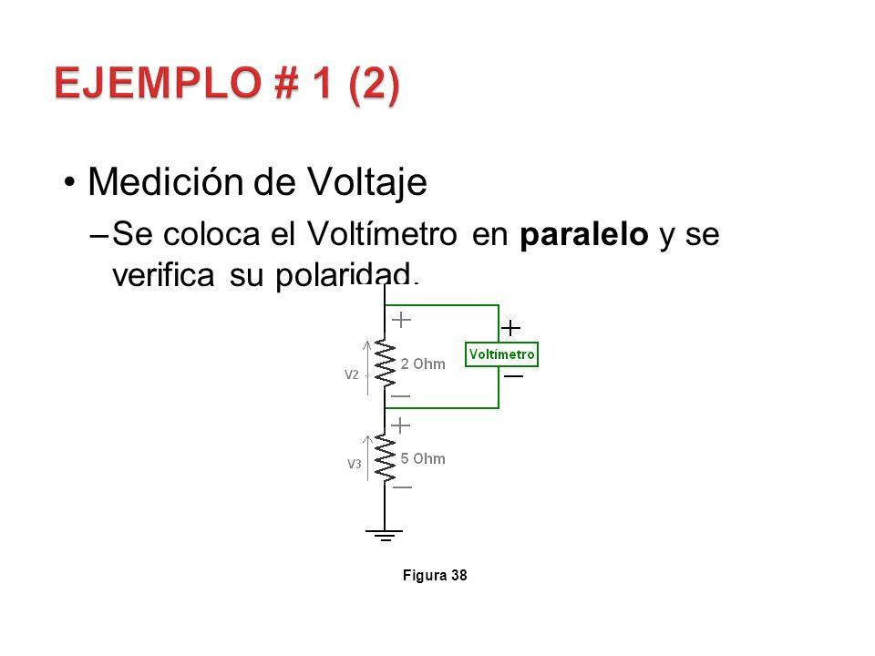 EJEMPLO # 1 (2) Medición de Voltaje