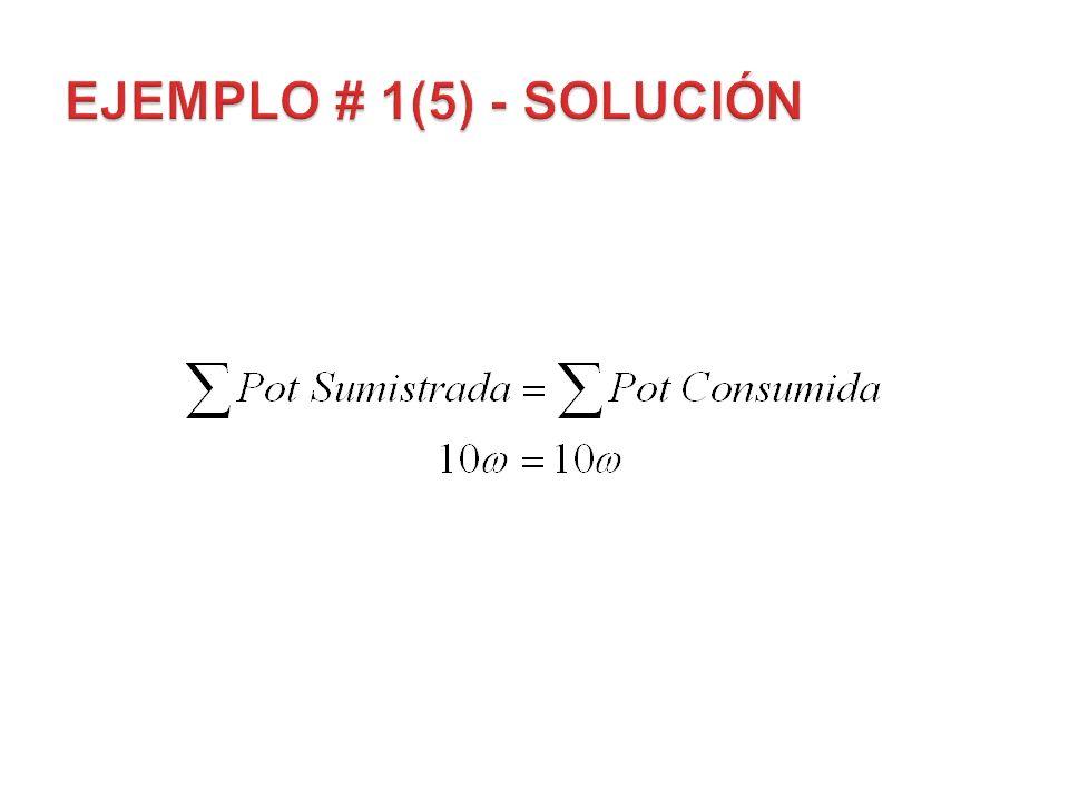EJEMPLO # 1(5) - Solución