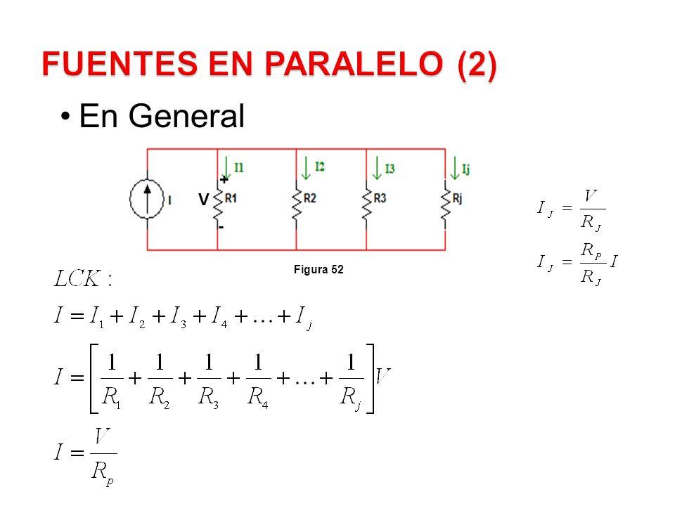 FUENTES EN PARALELO (2) En General + V - Figura 52