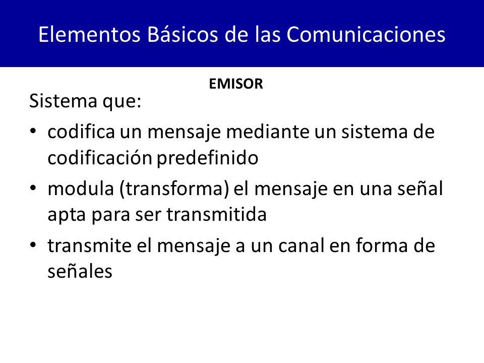 Elementos Básicos de las Comunicaciones