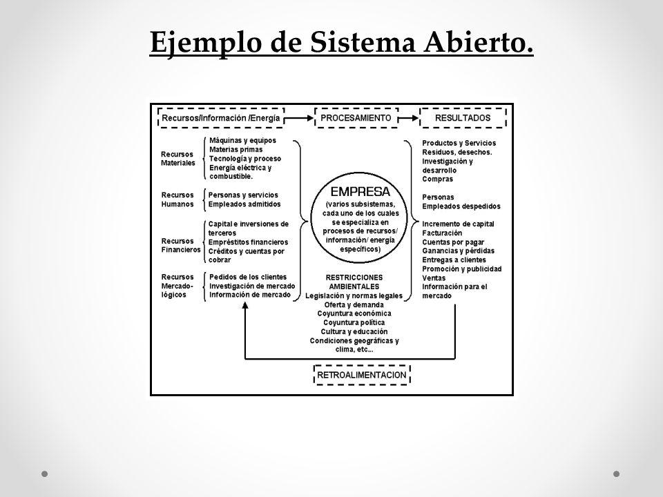 Ejemplo de Sistema Abierto.