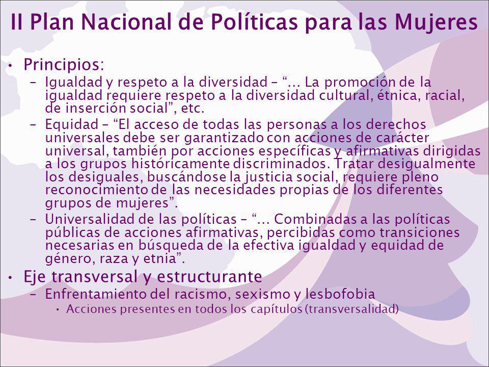 II Plan Nacional de Políticas para las Mujeres